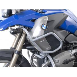 Protecciones de motor superiores plateado. bmw r 1200 gs (08 -). única