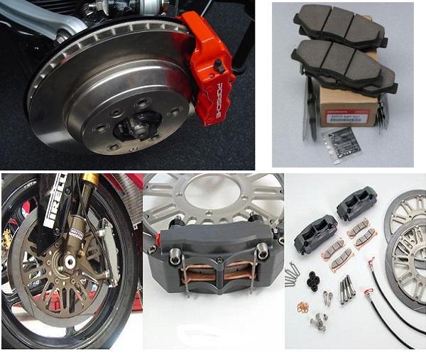 Desgaste del freno de disco de la moto