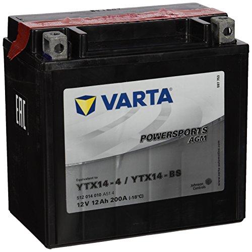 Batería de Motocicleta Varta YTX14-BS 12V 12 Ah