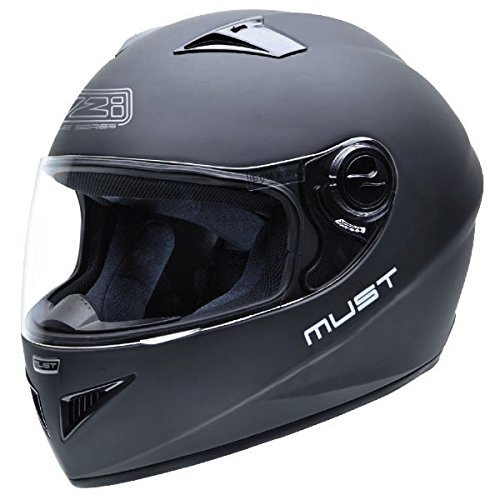 Casco de Moto Homologado NZI Must II Negro Mate