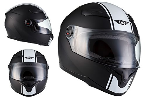 Casco Integral de Moto X86 Racing Matt Black Certificado ECE 22-05 Negro