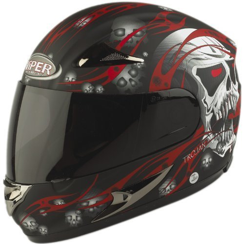 Casco Integral Viper RS-44 Calavera Rojo Mate