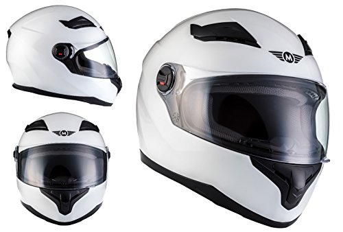 Casco Moto X86 Gloss White ECE certificado Blanco