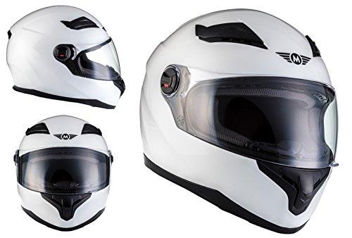 Casco Moto X86 Gloss White ECE certificado Blanco