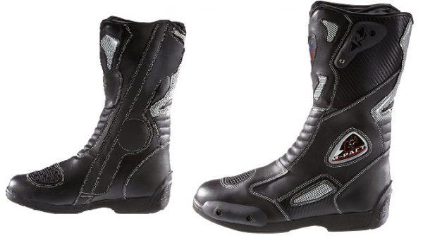 Botas para moto deportivas de cuero