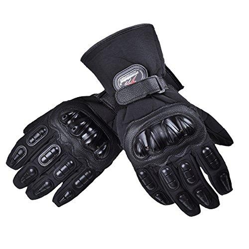 Guantes para motociclista impermeables con protección carbono Madbike
