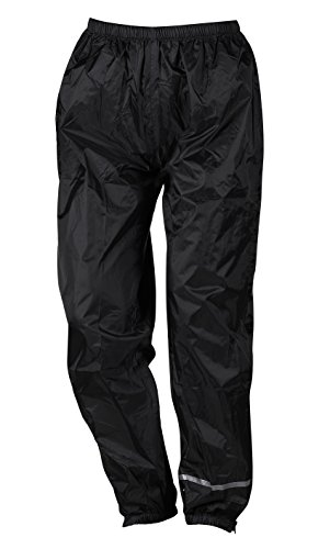 Pantalón para motociclista impermeable negro Nerve Easy Rain