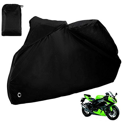 Funda para Moto ZACRO 190T Impermeable Protección rayos UV color Negro