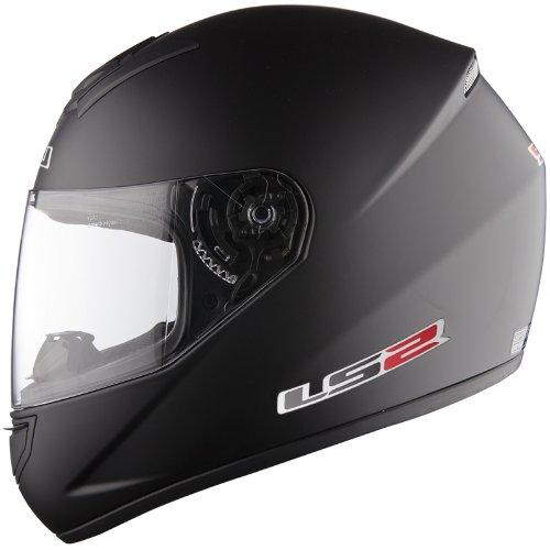 Casco de Motocicleta LS2 FF351 Mono Mate Negro