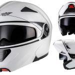 Casco Modular Urbano para Moto Scooter Moto Helmets F19