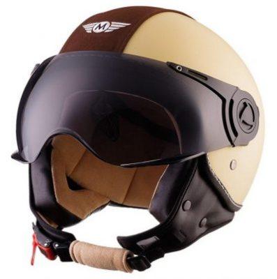 casco jet moto bobber aviator
