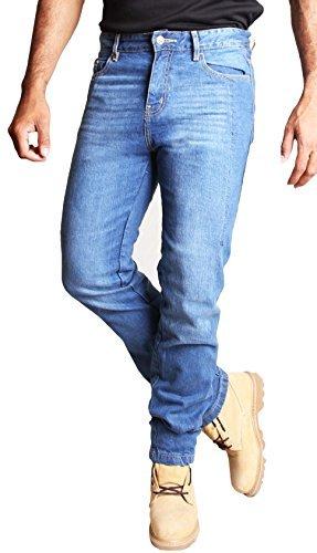 Pantalones estilo vaquero para moto con portecciones Kevlar