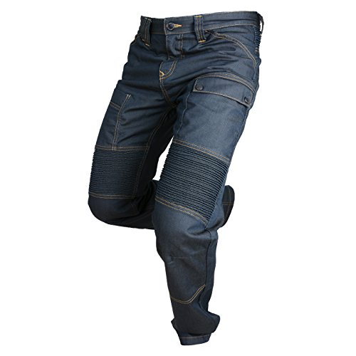 Pantalones tipo vaquero Moto Road Azul Oscuro